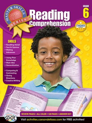 cover image of Reading Comprehension, Grade 6