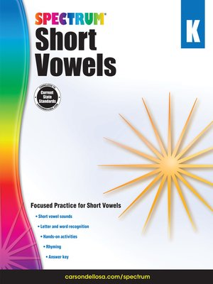 cover image of Short Vowels, Grade K