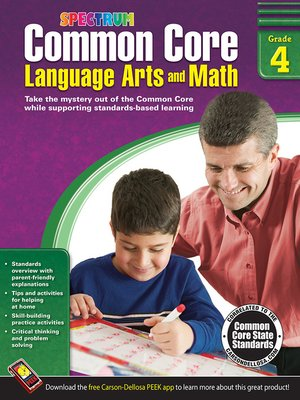 cover image of Common Core Language Arts and Math, Grade 4