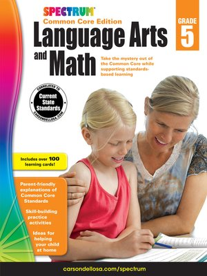 cover image of Spectrum Language Arts and Math, Grade 5