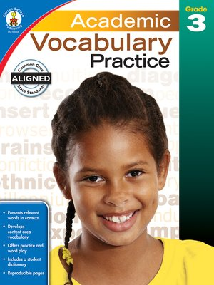 cover image of Academic Vocabulary Practice, Grade 3