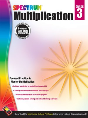 cover image of Multiplication, Grade 3