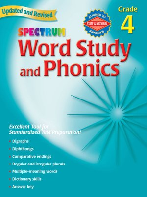 cover image of Spectrum Phonics, Grade 4