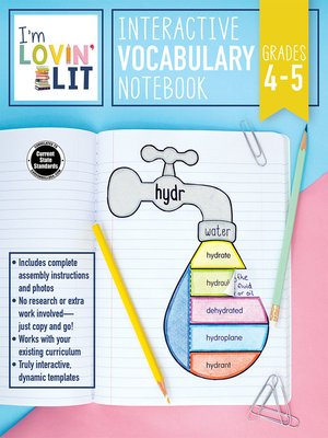 cover image of I'm Lovin' Lit Interactive Vocabulary Notebook, Grades 4--5