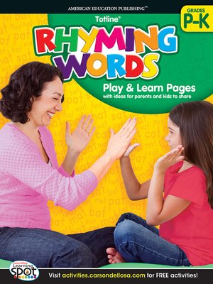 cover image of Rhyming Words, Grades PK - K