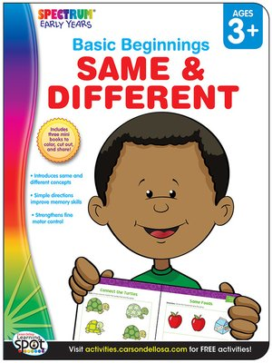 cover image of Same & Different, Grades Preschool - K