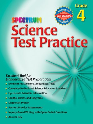 cover image of Science Test Practice, Grade 4