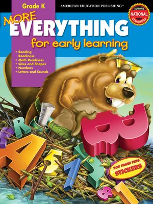cover image of More Everything for Early Learning, Grade K