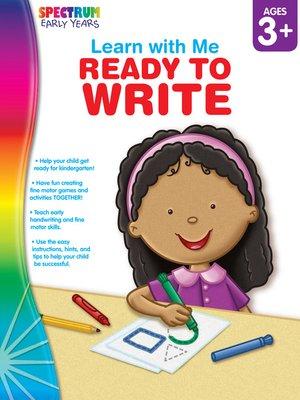 cover image of Ready to Write, Grades Preschool - K