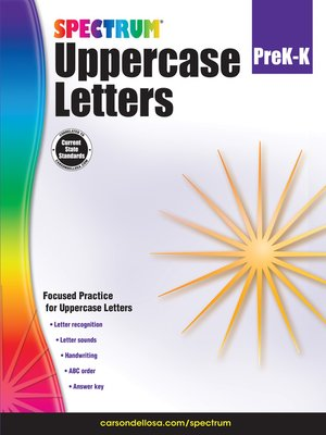 cover image of Uppercase Letters, Grades PK--K