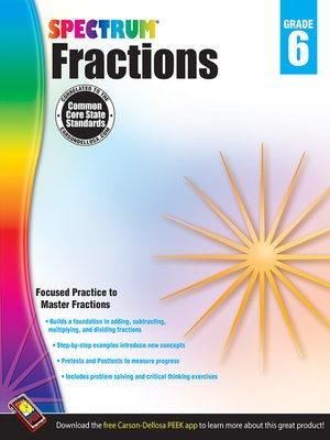 cover image of Fractions, Grade 6