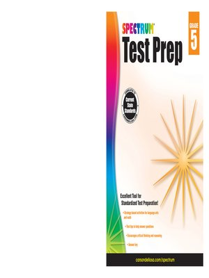 cover image of Spectrum Test Prep, Grade 5