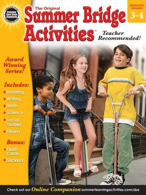 cover image of Summer Bridge Activities, Grades 3 - 4