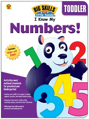 cover image of I Know My Numbers!, Ages 3--5