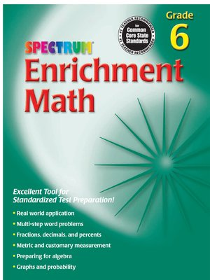 cover image of Enrichment Math, Grade 6