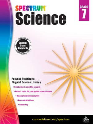 cover image of Spectrum Science, Grade 7