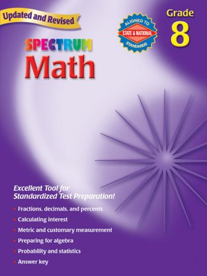 cover image of Spectrum Math, Grade 8