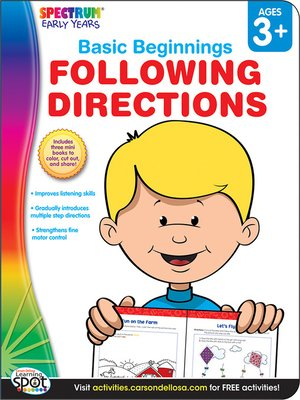 cover image of Following Directions, Grades Preschool - K