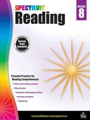 cover image of Spectrum Reading Workbook, Grade 8