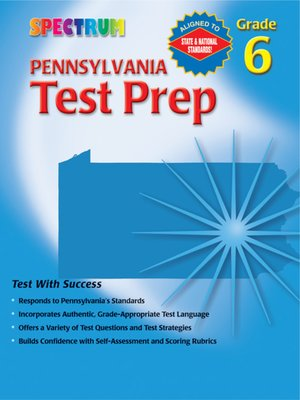 cover image of Pennsylvania Test Prep, Grade 6