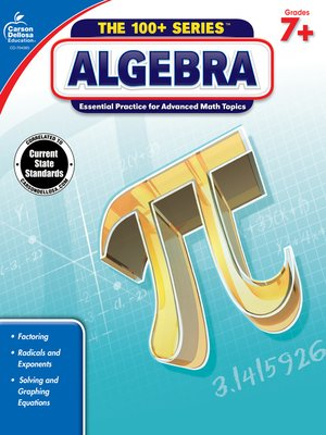 cover image of Algebra, Grades 7 - 9