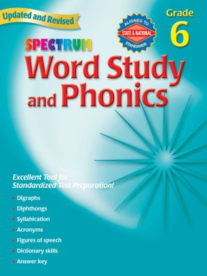 cover image of Spectrum Phonics, Grade 6