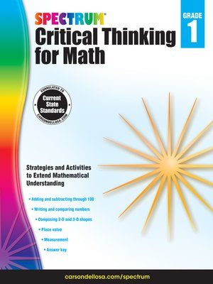 cover image of Spectrum Critical Thinking for Math, Grade 1