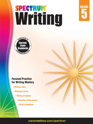 cover image of Spectrum Writing, Grade 5