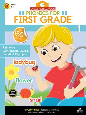 cover image of Skills for School Phonics for First Grade