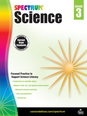 cover image of Spectrum Science, Grade 3