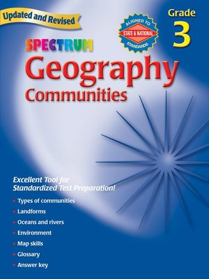 cover image of Geography, Grade 3