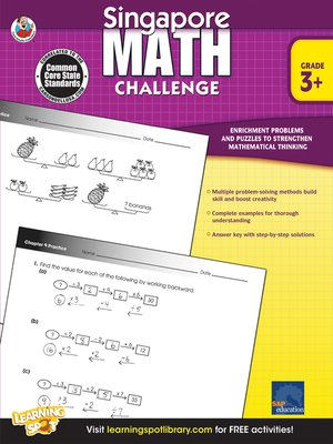 cover image of Singapore Math Challenge, Grades 3 - 5