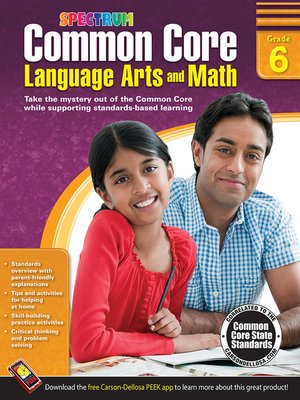 cover image of Common Core Language Arts and Math, Grade 6