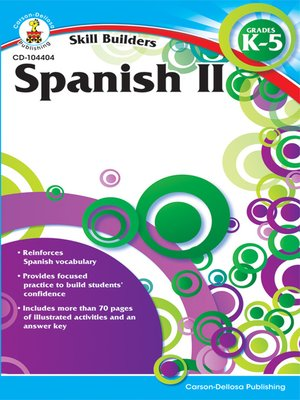 cover image of Spanish II, Grades K--5