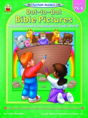cover image of Dot-to-Dot Bible Pictures, Grades PK--K