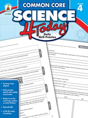 cover image of Common Core Science 4 Today, Grade 4