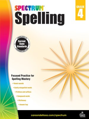 cover image of Spectrum Spelling, Grade 4