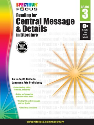 cover image of Spectrum Reading for Central Message and Details in Literature