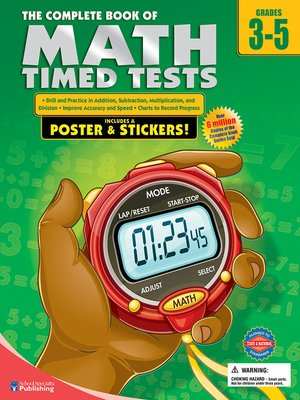 cover image of The Complete Book of Math Timed Tests, Grades 3--5