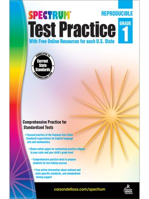 cover image of Spectrum Test Practice, Grade 1