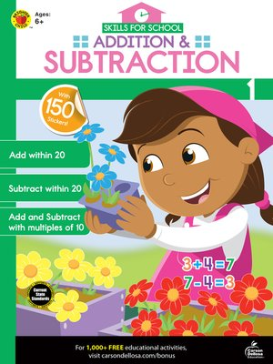 cover image of Skills for School Addition & Subtraction, Grade 1