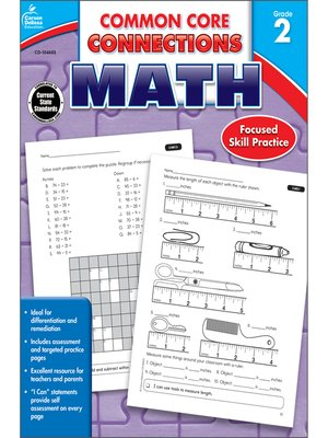 cover image of Common Core Connections Math, Grade 2