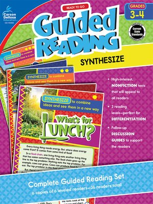 cover image of Ready to Go Guided Reading: Synthesize, Grades 3-4