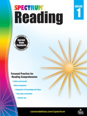 cover image of Spectrum Reading Workbook, Grade 1
