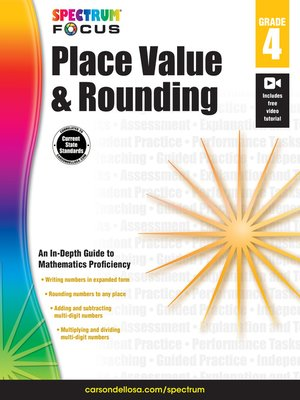 cover image of Spectrum Place Value and Rounding, Grade 4