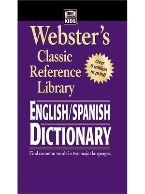 cover image of Webster's English-Spanish Dictionary, Grades 6--12