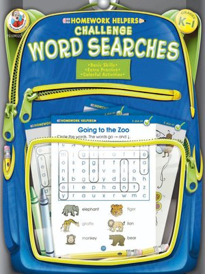 cover image of Challenge Word Searches, Grades K--1