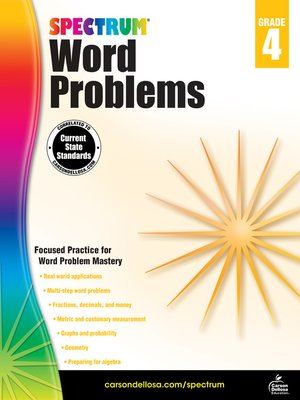 cover image of Word Problems, Grade 4