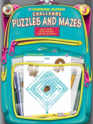 cover image of Challenge Puzzles and Mazes, Grade 3