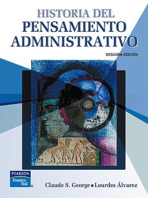 cover image of Historia Del Pensamiento Administrativo